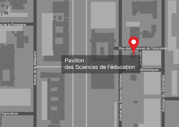 Carte du campus Université Laval
